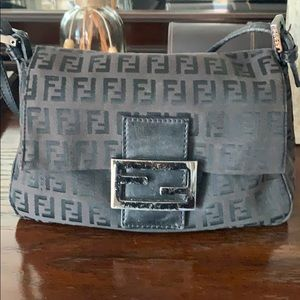 Fendi Zucca Bag, Black